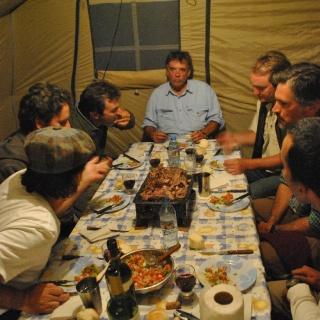 Cena de Campamento