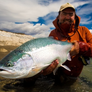 Estancia Laguna Verde Fly fishing lodge - Big  Rainbow