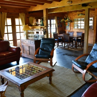 Interior de Lodge en Yelcho