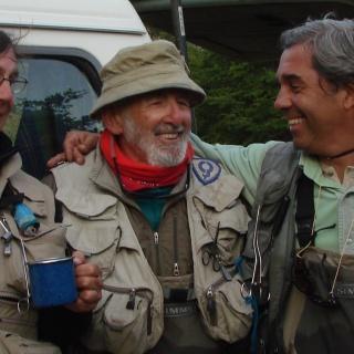 Pablo Martelli, Mel Krieger y M. Lussich en Puerto Lussich