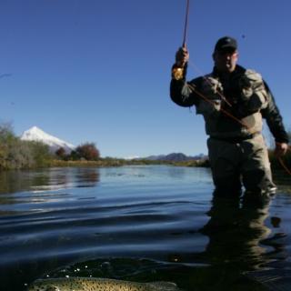 San Huberto Lodge - Fly fishing - Malleo River.