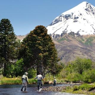 Malleo River - Lanin Volcano - San Huberto Lodge