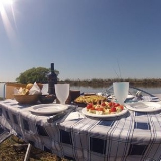 Luch time! Fly fishing with dario Arrieta