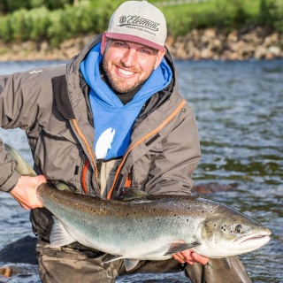 Freddie Larsson, Winsnes Fly Fishing Lodge ghillie
