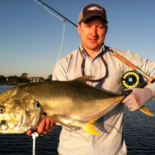 Ian w/a giant Jack Crevalle taken on a big top water fly.