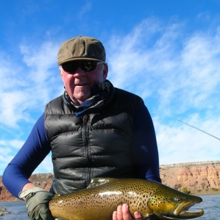 Chip Drozenski, and one of his big brown trouts