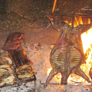 TO eat! Asado ready