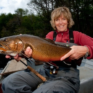 Big Brook Trout - Hess Channels - Rio Manso Lodge