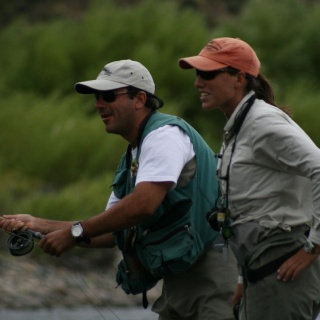 Guiding on Chimehuin River, Argentina