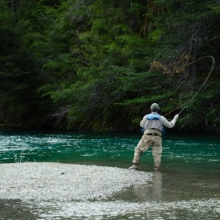 Fly fishing in the Manso River - Rio Manso Lodge