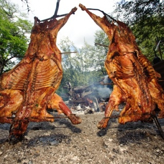 Asado at the Rio Manso Lodge