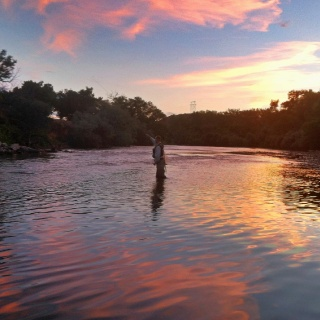 Sunset on the Pueblo Tailwater.... only minutes from downtown Pueblo!