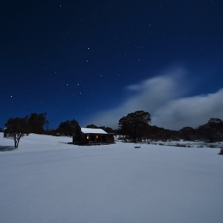 Moonbah Huts in Winter