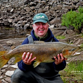 Amazing wild brown trout - caught on a lure, not fly!