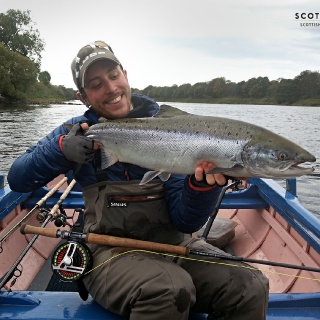 Head guide and owner Callum Conner with a lovely Tay Salmon