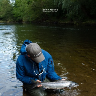 Owner Callum with a nice summer Grilse.