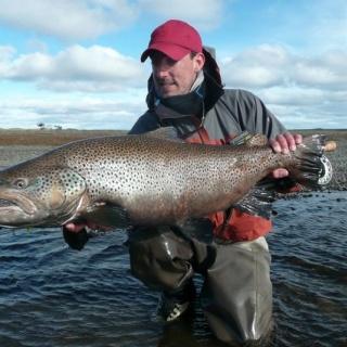 23 pounder sea trout from Rio Grande