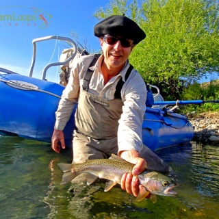 Rainbow on the fly - Collon Cura River.