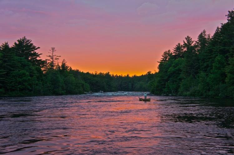 Fly fishing situation of landlocked salmon image shared for Maine salmon fishing
