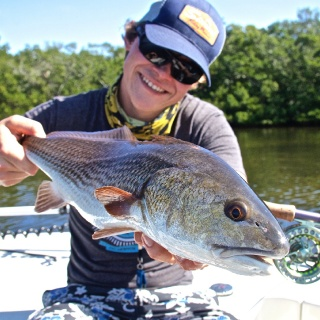 Sightcasting Redfish in Pine Island Sound with Florian Hassenpflug from Germany