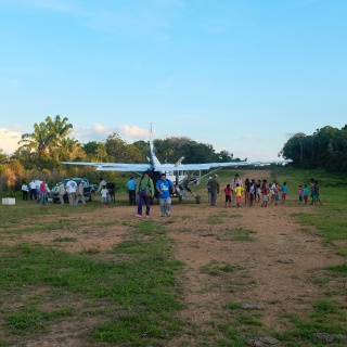 Our runway located at Barra de São Manoel, 10 minutes from the Ecolodge da Barra