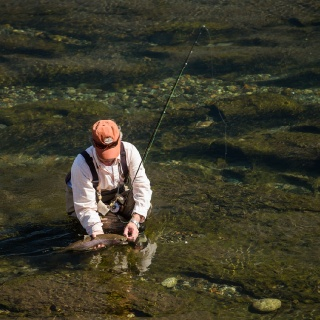 fly fishing at the Chimehuín river - Tipiliuke lodge