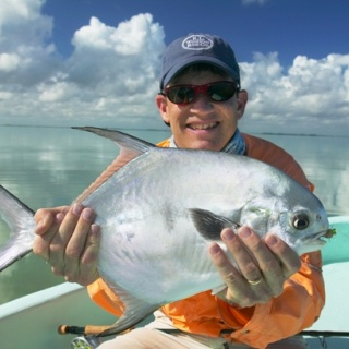 Fly fishing for Permit at Ascension Bay Bonefish Club
