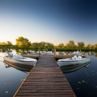 Pira Lodge dock - Where the Fly fishing day starts