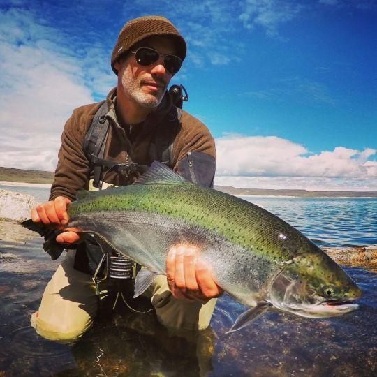 Fishing report jurassic lake by estancia laguna verde for Santa cruz fishing