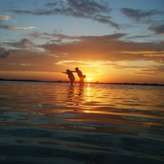 Evening fishing for bonefish - Punta Allen fishing club