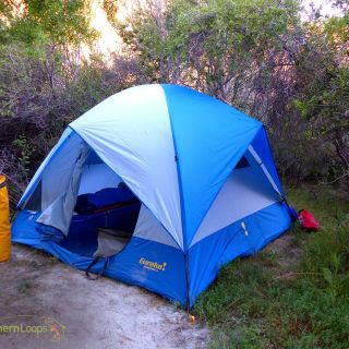 Roomy and confortable tents at our riverside camp.