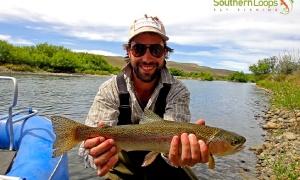 Chimehuin River, Collon Cura River , Junin de los Andes , Neuquen , Argentina