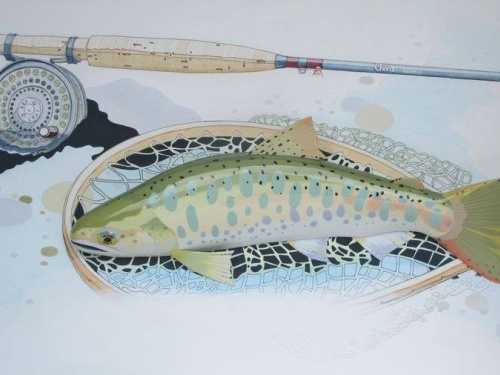 Kazuaki Fukunaga, from Japan, makes great fish carvings and some fun fly-fishing drawings that are found all around the web. Here's some of them and what he has to say about his work.. How did you get into fly fishing and into drawing your catches?Kazu: I...