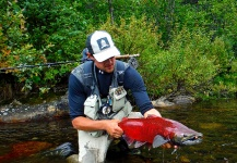 Luke Metherell 's Fly-fishing Picture of a King salmon – Fly dreamers