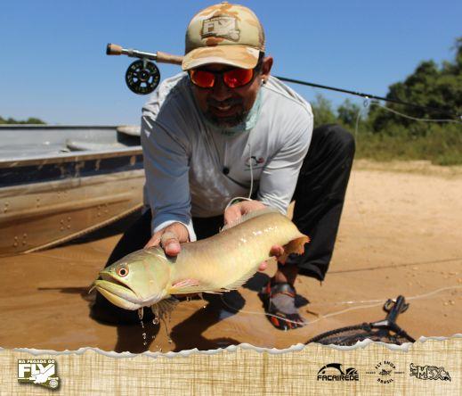 Pescar este peixe no visual, colocando a mosca na sua cara é uma verdadeira caçada e ainda mais em um rio que tem o nome de Cristalino!  ESSA É A PEGADA!