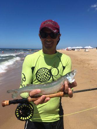 Tremenda pesca de pejerreyes en la brava de punta del este!!!!