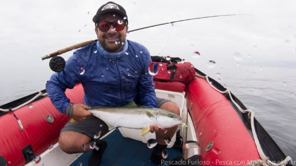 Pesca de Vidriola - Seriola Lalandi  Mosca tubo - buctail
