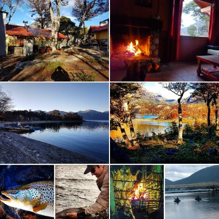 Preparing the fishing season 2019 this year with lodge on the shores of the lake #fagneano (kami) .. with the best service in the gastronomy of the area and good fishing rod bent mounted on the belly boat in search of brown trout resident of your dreams M...