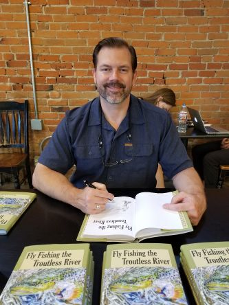 Signing copies of Fly Fishing the Troutless River at Chapters Books & Coffee in Newberg, OR.