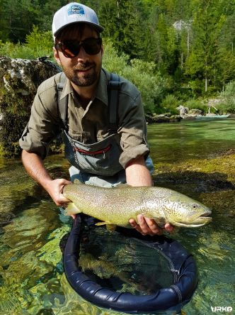 Marble trout, probably every fly fisherman's goal coming to Slovenia, season for this elusive species starts on 1st of April.