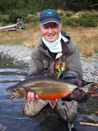 Mark and his big brook trout
