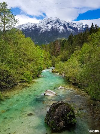 When snow, rain and spring collide! 😍🎨 Koritnica River, Slovenia 🇸🇮👍