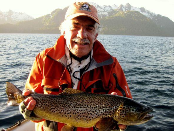 lake brown at Patagonia Argentina