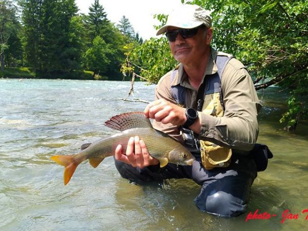 October fly fishing in Slovenia