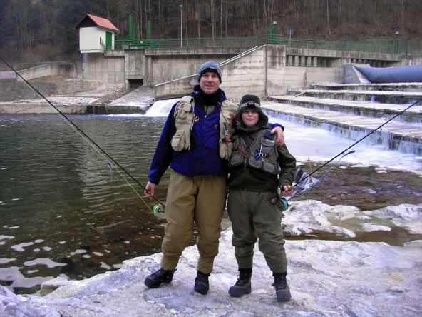 Slovenia and the Sava Bohinjka river - especially good place to bond with juniors in fly fishing! Fathers and sons - and fishing! What more to ask for!?