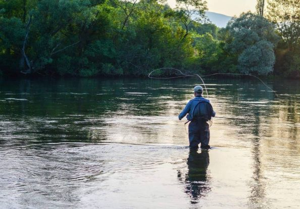 Fly fishing on Cetina river