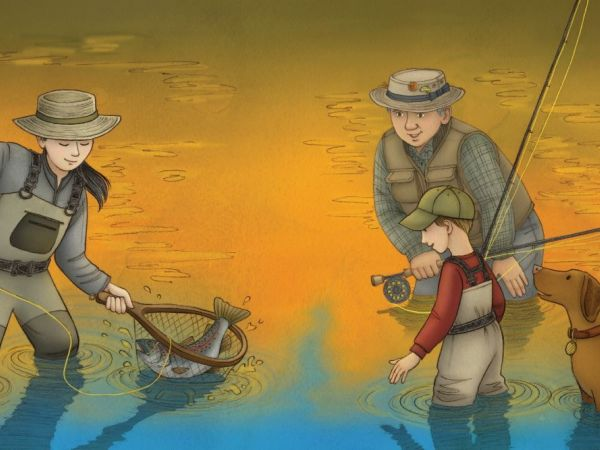 Down By the River: A Family Fly Fishing Story children's book