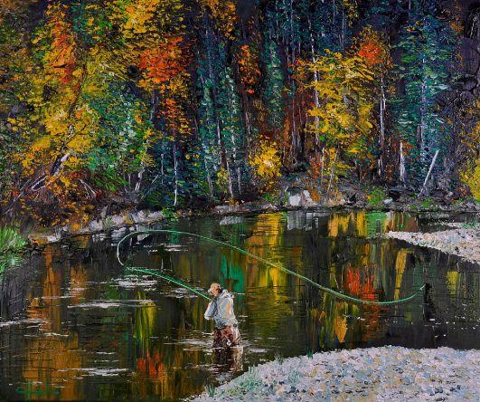 "Four Mirror  Oil on canvas 24 x 20 "" palette knife.  Oleo sobre tela realizado con espátula."