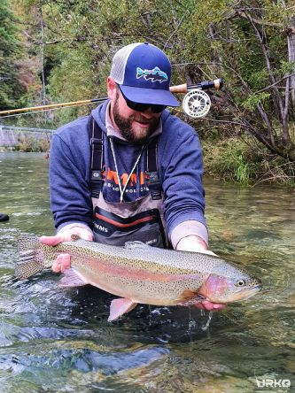 Another priceless moment on a dry fly from the river Idrijca ... +60cm rainbow trout